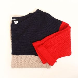 Urban Outfitters BDG Colorblock Red Navy Sweater